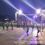 Exhibición gimnastica de la Escuela 198 Provincia de San Luis